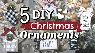 5 DIY Dollar Tree Christmas Ornaments   Dollar Tree Christmas Decor 2019   Krafts By Katelyn