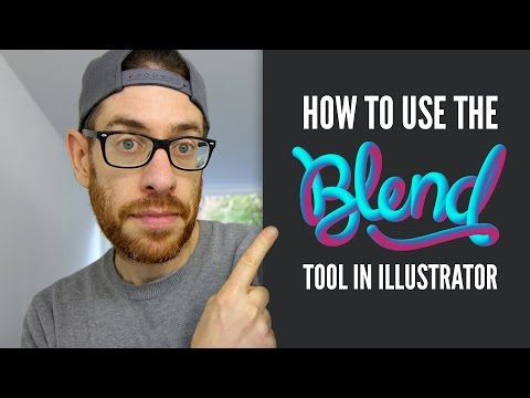How to use the BLEND TOOL – Adobe Illustrator Tutorial