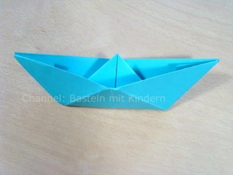 Papierschiff falten - Papier falten - Origami Boot - Einfaches Schiff basteln mit Papier