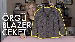 Erkek Çocuklar İçin Beklenen Blazer Ceket - Örgü Modelleri