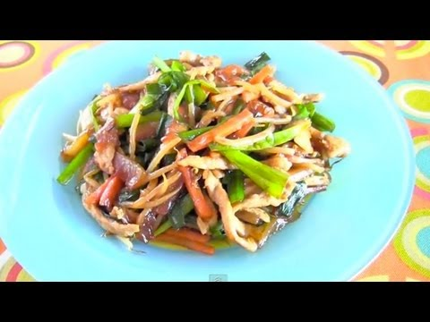 Chinese Style Stir-Fried Watermelon Rind (Recipe) スイカの皮の簡単中華炒め (レシピ)