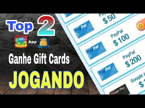 TOP 2 APPS para Ganhar Dinheiro no Paypal, Gift Card Google Play e Amazon Jogando