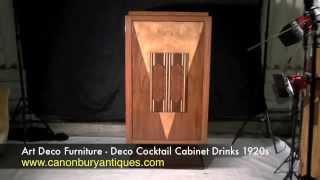 Art Deco Furniture - Deco Cocktail Cabinet Drinks 1920s