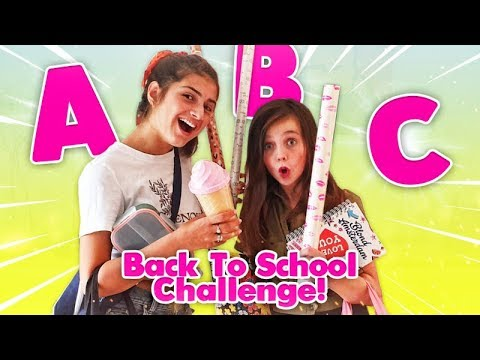 DE ALFABET BACK TO SCHOOL SHOPPING CHALLENGE met LILLYAN | ABC Challenge - Bibi