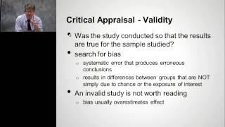 """Dr John Epling,  Evidence-Based Medicine: """"Basics of Critical Appraisal"""""""