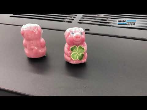Marzipan-Figuren in Folienverpackung