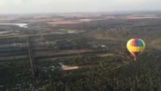 Освящение Новомосковска с воздушного шара