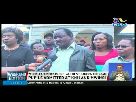 Kalonzo and Ngilu visit Mwingi accident victims at KNH