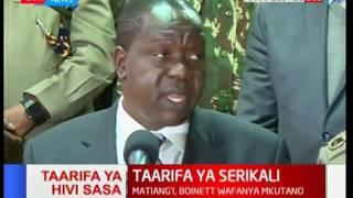 Kivumbi2017: Fred Matiang'i na Joseph Boinnet watoa taarifa kuhusu usalama wakati wa uchaguzi