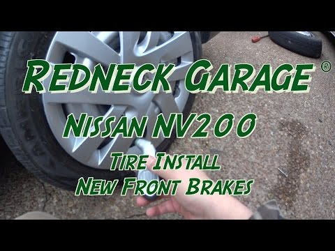 Nissan NV200 - New Tires (again) and Front Brakes