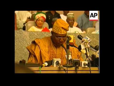 NIGERIA: PREIDENT ELECT OBASANJO SPEECH