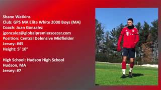 Shane Watkins 2019 Soccer Highlight Video 2019