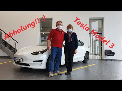 Warum Elektro? Warum Tesla? - 2021 Tesla Model 3 Facelift Abholung