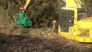 スーパーブラッシュチョッパー (エスカベーターマルチャー)0.7m3用 森林伐採 現場
