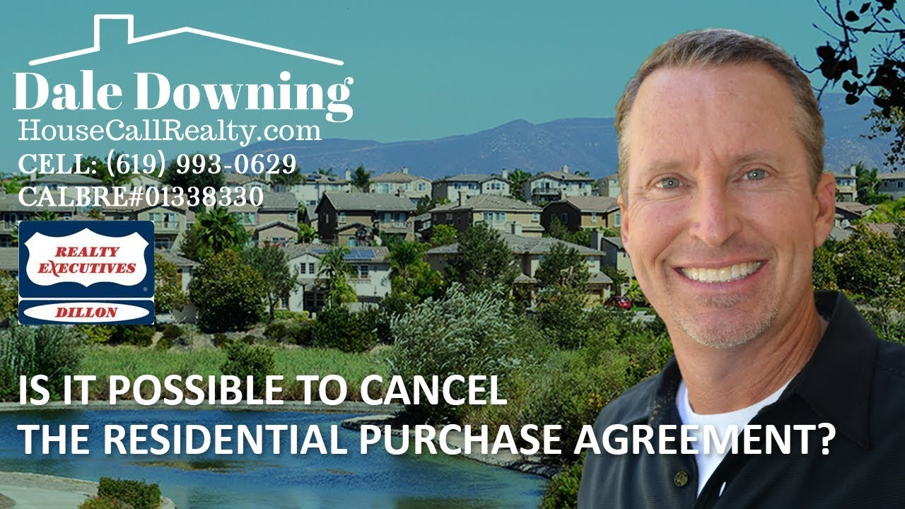Can Buyers or Sellers Cancel the Purchase Agreement Once in Escrow?