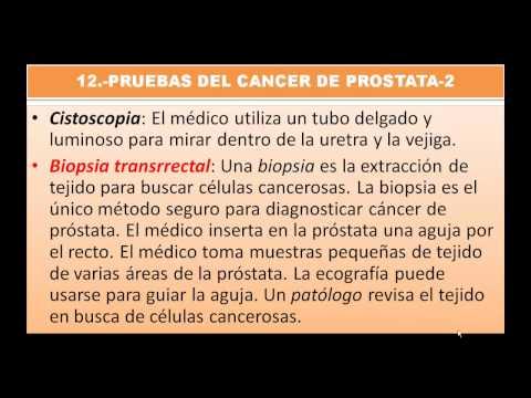 Proctólogo examen de próstata