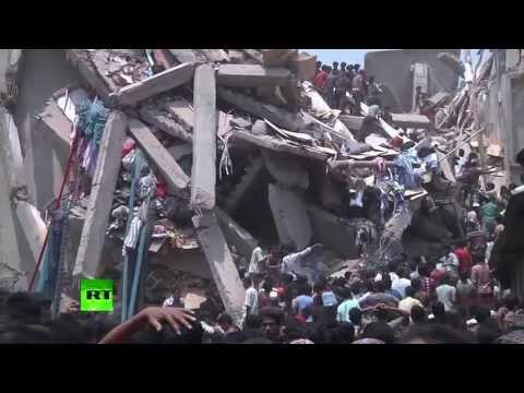 Из-под развалин здания в Бангладеш извлекли уже тысячу тел