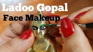 Bal Gopal Easy Eye Face Makeup Video/Ladoo Gopal Shringar Video/बाल गोपाल श्रृंगार/easy Eye Makeup