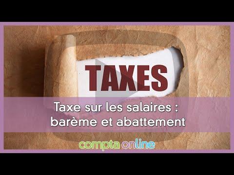 Barème de la taxe sur les salaires