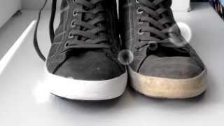 Смотреть онлайн Как отбелить подошву кед и кроссовок