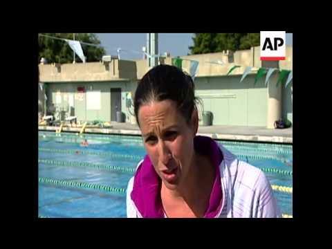 Janet Evans is back in the pool and hoping to swim at the London Olympics. In an exclusive interview