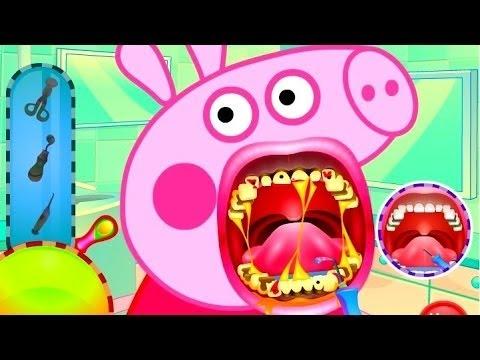 Свинка Пеппа Лечим Зубы Стамотолог Игра для Детей.