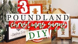 3x POUNDLAND DIY CHRISTMAS SIGNS