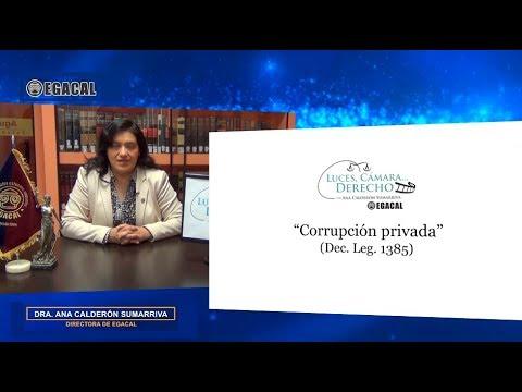 Programa 98 - Delito de Corrupción privada (Dec. Leg. 1385) - Luces Cámara Derecho - EGACAL