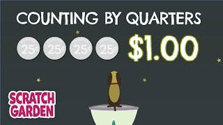 Counting by Quarters | Counting Songs | Scratch Garden