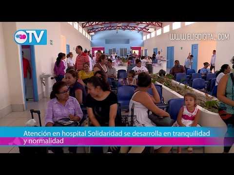 Atención en hospital Solidaridad se desarrolla en tranquilidad y normalidad