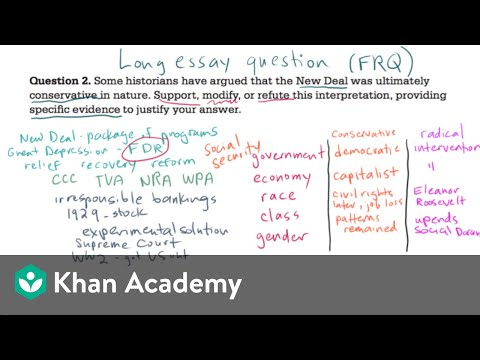 AP US History long essay example 2 (video) Khan Academy