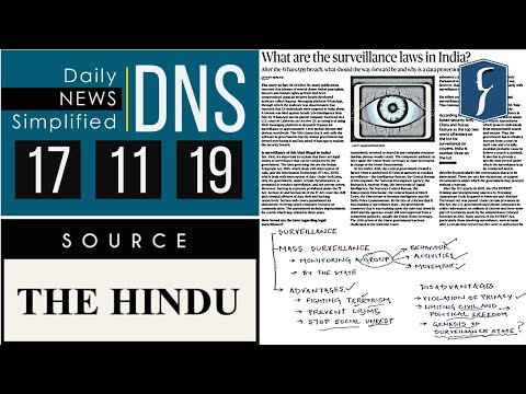Daily News Simplified 17-11-19 (The Hindu Newspaper - Current Affairs - Analysis for UPSC/IAS Exam)
