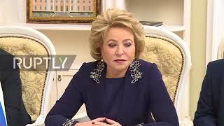 Russia: Matvienko has no 'high hopes