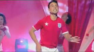 Chico performing 'It's England Time' on GM:TV