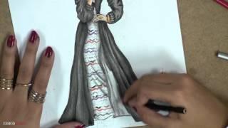 Abaya Fashion Illustration