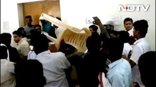 BSP Workers Throw Chairs, Attack Leader In Shocking Free-For-All