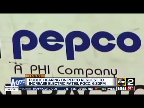Pepco to hold hearing about electric rate increase