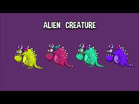 Alien creature - 2D Game Art