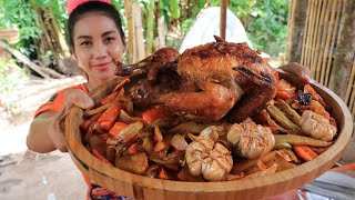 Tasty chicken roasted with vegetable recipe
