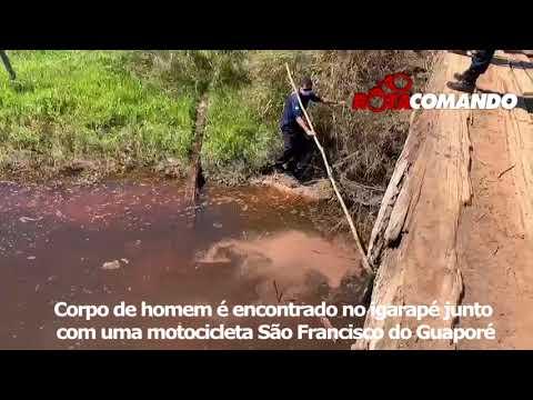 Corpo de homem é encontrado boiando no igarapé em São Francisco do Guaporé