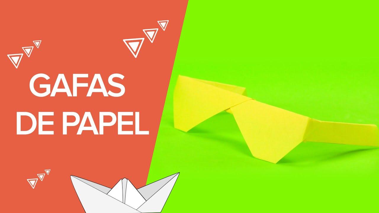 Gafas de papel paso a paso | Origami para niños