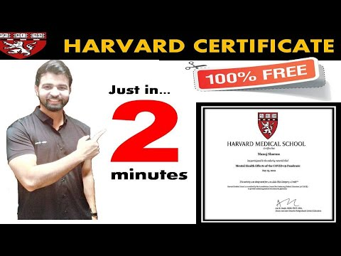 Harvard Free Certificate Courses / Free Online Courses with Certificate
