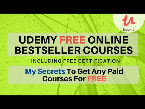 Udemy Free Online Certification Courses 2020   How to get ...