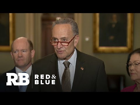 Schumer tells senators running for president that impeachment comes first