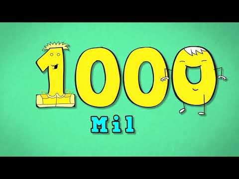 Spanish numbers from 10 to 1000. Números del 10 al 1000. Song for kids to learn numbers in Spanish