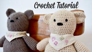 How To Crochet A Basic Teddy Bear / Amigurumi Bear - Buttons & Binky Bear