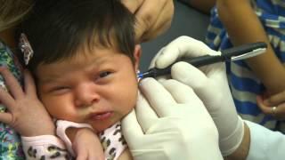 Bebê Furando A Orelha! Betina