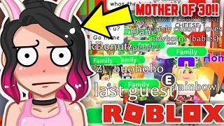 Adopt Me MOTHER of 30 KIDS.. We adopted EVERYBODY and fought for their LOVE (ROBLOX)