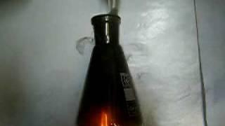 Combustion of LPG in chlorine