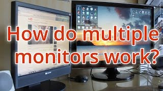 How do dual monitors work?